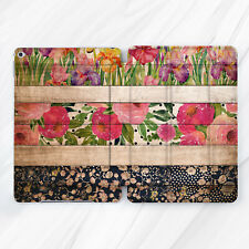 Beige Vintage Flower Wood Girl Case For iPad Pro 9.7 10.5 11 12.9 Air Mini 2 3 5