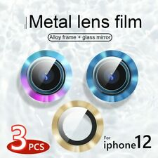 Colorful Fr iPhone 12 Pro Max 11 Metal Camera Lens Tempered Glass Protector Ring