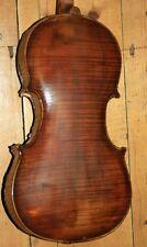 Tamaño Completo Antiguo Viejo Inglés violín necesita reparación Walter Ashton 1931