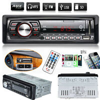 Car Stereo In-Dash 1 Din Audio FM Aux Input Receiver SD USB MP3 WMA Radio Player