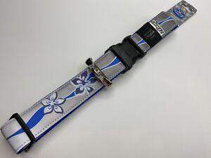 Rogz XXL Reflective Dog Collar BNWT Blue Lilac Wave Winter Ready