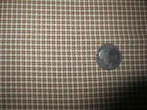 """3050.  Marcus TINY Browns CHECK/PLAID Quilting COTTON FABRIC - 43"""" x 3 1/4 yds."""