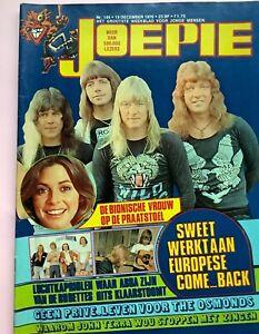 Belgian rock & pop music magazine JOEPIE 1976 THE SWEET