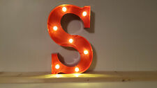 LED ALPHABET METALL BUCHSTABE - S - ROT 31x14-30x5cm=12 INCH MARQUEE LETTER