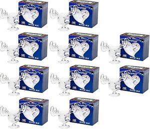Christmas Eggnog Moose Mugs Gift Boxed Set of 10- Acrylic Safer Than Glass 8 oz.