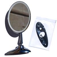 Specchietto Tondo Acciaio Cromato Fissaggio a Vite per FIAT 500 EPOCA  AC010/JUL