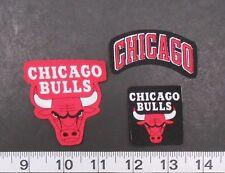 Chicago Bulls NBA Team Fabric Iron On Applique Patch Logo DIY Craft NO SEW 3pc