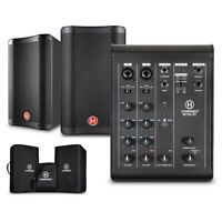 """Harbinger M100-BT Portable PA with Bluetooth and Custom Carry Bags 8"""" Mains"""