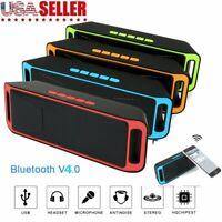 Wireless MP3 Player Stereo Speaker USB Flash FM Radio Super Bass Bluetooth V4.0