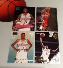 Allen Iverson 4-card Rookie Lot NBA Basketball Trading Cards - Hall of Fame PG