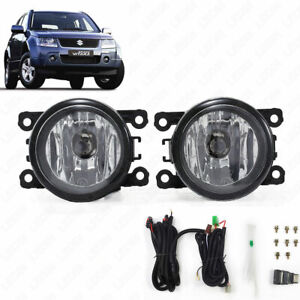 For 06-14 Suzuki GRAND VITARA Clear Lens Fog Light Kit w/Switch w/Bulbs w/Wiring