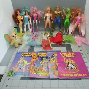 She Ra Princess Of Power Action Figures Collection With Comics And Accessories