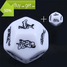 New 2 Pcs Sexy Dice Game Toy For Bachelor Party Adult Couple Novelty Gift
