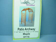 Dollhouse Miniature Patio Archway Kit - Maple - #Df116 Dragonfly Int'L 1/12th