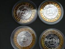 Set of (4) Hard Rock Hotel & Casino Las Vegas $10 Silver Strike tokens