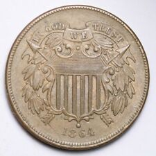1864 Two Cent Piece CHOICE UNC FREE SHIPPING E146 RNM