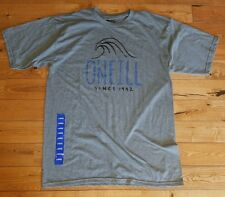 NEW Mens Grey Heather O'NEILL S/S Crew Neck Graphic T-Shirt Size Large L