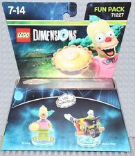 Lego Dimensions 71227 The Simpsons Fun Pack, Krusty & Clown Bike, NO BOX!