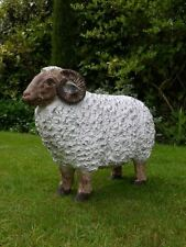 Large Garden Ram Farm Animal Sheep Lamb Family
