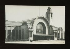 Finland HELSINKI Railway Station Main entrance RP PPC Used 1937