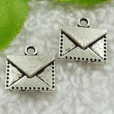 Free Ship 120 pcs tibet silver envelope charms 15x14mm #1684