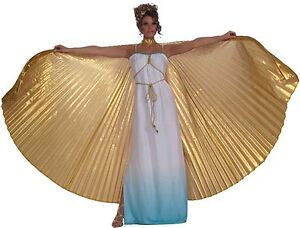 Gold Goddess Wings Cleopatra Costume Egyptian Adult Womens Theatrical Wing BIG