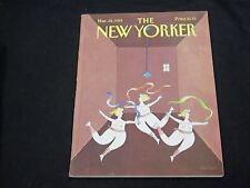 1988 MARCH 28 NEW YORKER MAGAZINE - BEAUTIFUL FRONT COVER FOR FRAMING - D1022