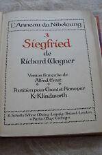 """""""SIEGFRIED""""  de Richard WAGNER  en Français"""