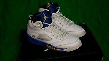 Nike Air Jordan 5 Retro  (GS) Laney white Maize royal 440888-189 sz 6 Y