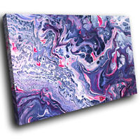 ZAB1741 Purple Pink White Cool Modern Canvas Abstract Wall Art Picture Prints