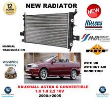Per OPEL ASTRA G Cabrio 1.6 1.8 2.2 16V 2001-2005 NUOVO RADIATORE OE Quality