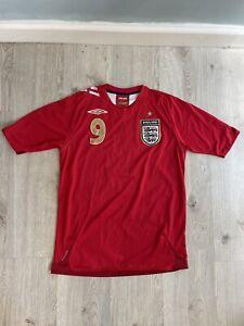 Umbro England Rooney #9 Away Shirt Size Small 2006-2008 Jersey