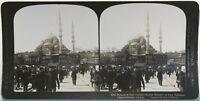 Costantinopoli Moschea Yeni Valideh Turchia Fotografia Stereo Vintage