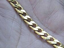 "GOLD BRACELET 18kt Yellow Gold Filled Chain Link Big Clasp 8 1/2""  Men Women NEW"