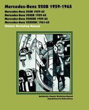 MERCEDES W111 S CLASS 220b 220 b Sb SEb SEbc Owners Service Manual Handbook Book