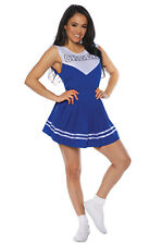 Brand New Cheerleader Cheer Adult Costume (Blue)