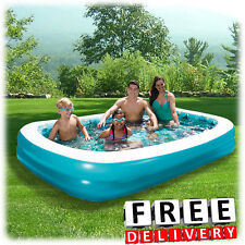 """Inflatable Pool Family 103"""" x 69"""" Kid Adult Lounge Swimming Ground Swim Center"""