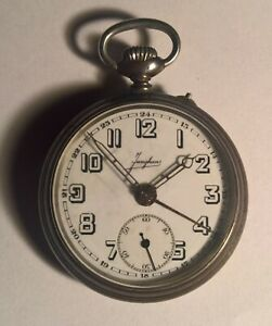 Very rare Junghans alarm pocket watch WW1 in luxury condition