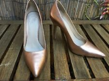 Whittner Balbour 100 years Leather High Heels Pumps Rose gold metallic size 35