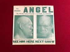 1940's, The Swedish ANGEL, Wrestling Advertising Poster (RARE)
