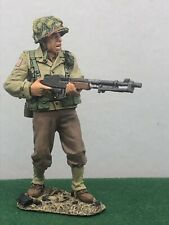 King And Country Ww2 American Airborne Infantry With Machine Gun 160