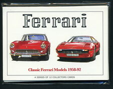 Ferrari 1958-92 Sammler Karte- Satz - 250 GT GTO 330 Dino 246 GT 512 BBi 308 GTS
