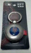 NY Mets Flashlight / Key tag MLB license. Baseball shaped