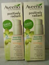 Aveeno Positively Radiant Sheer Daily Moisturizer - SPF 30 - 2.5 oz each (2pk)