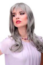 femmes élégantes Perruque gris Gris ondulé frange env. 55cm 3001-51