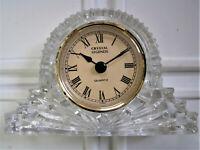 Crystal Legends by Godinger Quartz Clock 24% Lead Crystal