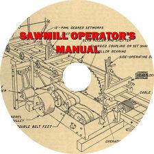 Sawmill Operator's Manual - Lumber Mill Equipment Installation (1952) Book on CD