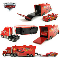 Disney Pixar Cars 2 NO.95 Mack Truck & Lightning McQueen Diecast 1:55 Toys 2PCS