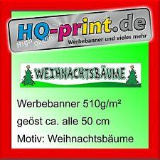 €16,11/m² Werbebanner 300x60cm Weihnachtsbäume Werbeplane Digitaldruck geöst