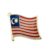 MALAYSIA FLAG Enamel Pin Badge Lapel Brooch Fashion Gift Malaysian PN43